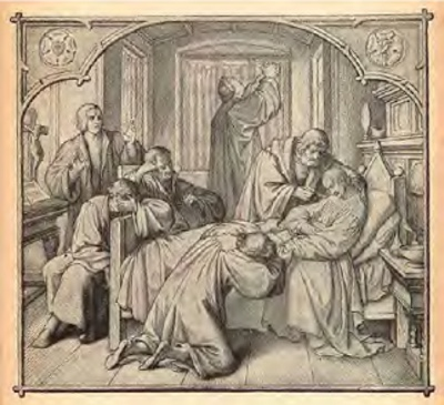 Luther and Friends Pray at the Bedside of Melancthon