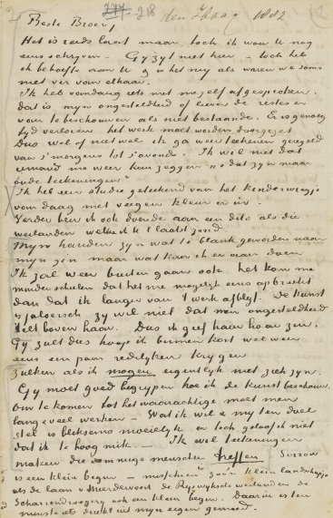 Facsimile of a letter from Vincent van Gogh